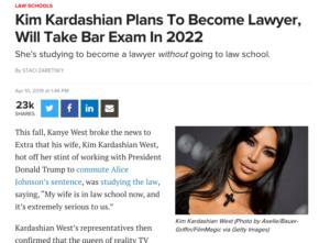 Kim Kardashian Plans To Become Lawyer, Will Take Bar Exam In